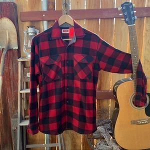 Wrangler Fleece flannel button down.